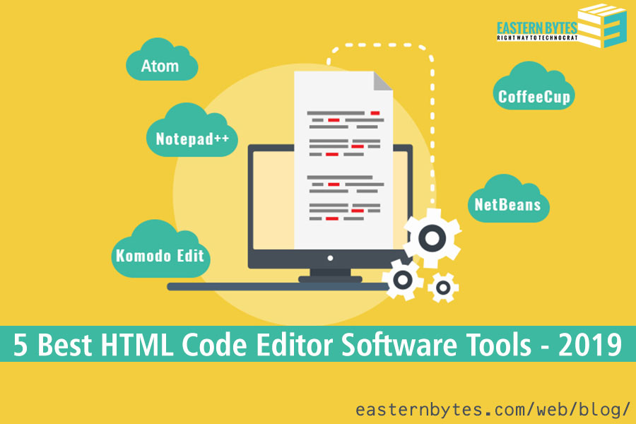 5 Best HTML Code Editor Software Tools - 2019